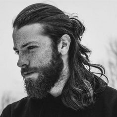 Man Bun with Textured Long Hair