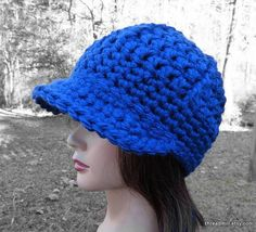 Nearly Navy Chunky Brimster by Threadmill on Etsy, $28.00