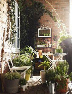 Zielone balkony Ikea