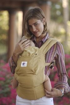 "Ergo Carrier. For when little one outgrows the K-tan. Fits mom or dad; distributes weight ""magically well;"" good for high-impact activities."