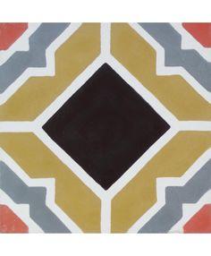 Granada Encaustic Cement Tile by TERRAZZO-TILES. http://www.terrazzo-tiles.co.uk/granada-encaustic-cement-tile.html