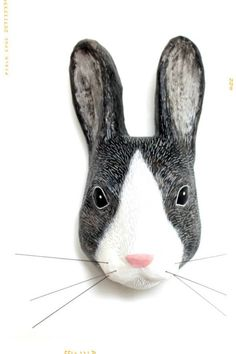 Little Grey Rabbit Paper Mache Mount