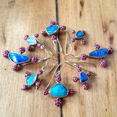 Judy Geib opal & ruby earrings photo by DanDaleynyc