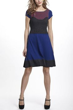 Intarsia Dotted Sweater Dress #anthropologie
