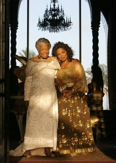 Oprah and Maya Angelou.... Two beautiful women in this picture who are AMAZING!!!!!!!!!!!!!!!!!!!