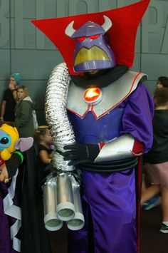 Emperor zurg hand made costume from supanova Perth Toy Story Halloween Costume, Toy Story Costumes, Halloween Toys, Easy Halloween Costumes, Halloween Cosplay, Diy Couples Costumes, Kids Costumes Girls, Cute Costumes, Family Costumes