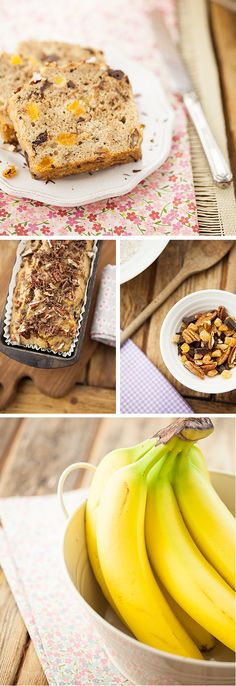 Banana Bread with Dark Chocolate, Pecans & Apricots