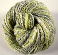 Handspun merino and silk chunky knitting yarn / by thefibretree, £8.50
