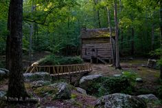Tishomingo State Park, a popular hiking spot in Mississippi. Hello America, Natchez Trace, Forest Cabin, Hiking Spots, Little Houses, Log Homes, Along The Way, Beautiful World, Cabins
