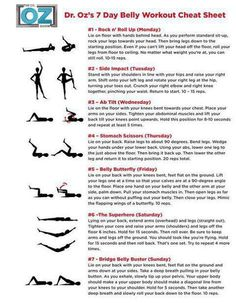 Dr Oz's 7 day belly workout plan