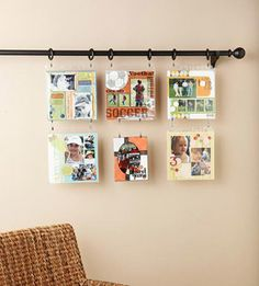 Scrapbook Layout Wall Hanging