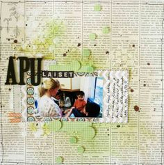 by Linda Iswariah Scrapbook Layouts, Scrapbooking, Photo Wall, Circles, Frame, June, Photography, Inspiration, Home Decor