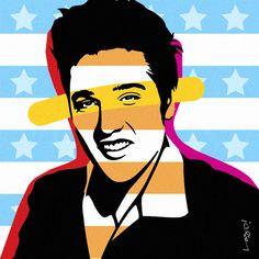 THE BOSS | ELVIS PRESLEY | LOBO | POP ART www.lobopopart.com.br
