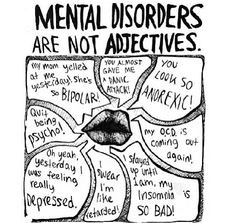 Mental/personality disorders are not adjectives!