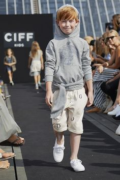 Hoodie by Wheat, shorts by Soft Gallery, shoes by Keds at CIFF Kids, Copenhagen for boyswear spring 2015