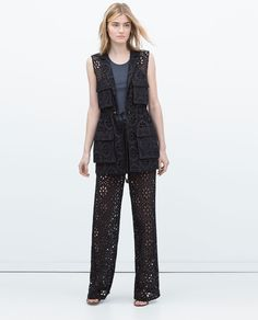 Image 1 of EMBROIDERED WAISTCOAT from Zara