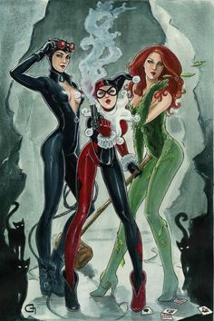 Selina, Harl and Pam (The Sirens)