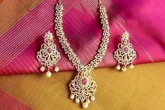 Bridal and Wedding Party Jewelry 164310: On Sale 18K On 4K Gold Bridal Real Diamond/Ruby Look Necklace Indian Bridal Set BUY IT NOW ONLY: $169.99