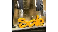 Sale felirat üzlet dekoráció 90X45cm - Plasztikus dekor - Imágódeko - Otthondekor és üzletdekor #shopdecor , #decoration