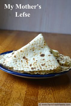 My Mother's Lefse--a tutorial for my children on how to make lefse my mom's method. Includes a video of my mom rolling out and cooking the first piece of the batch. My final recipe for Norwegian Cuisine, Norwegian Food, Best Christmas Recipes, Holiday Recipes, Best Homemade Bread Recipe, Recipe For Lefsa, Bread Recipes, Norway