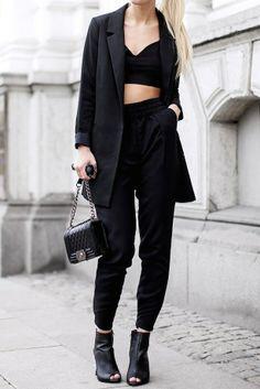 #allBlack, all black outfit - Victoria Tornegren