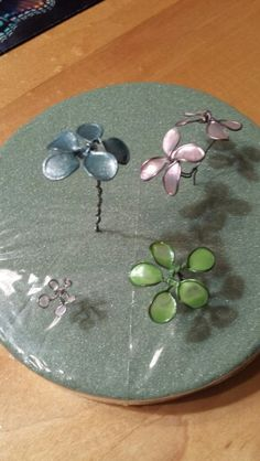 Wire Flowers Painted With Nail Polish. Made By NEV. Please Keep Link When Pinning.