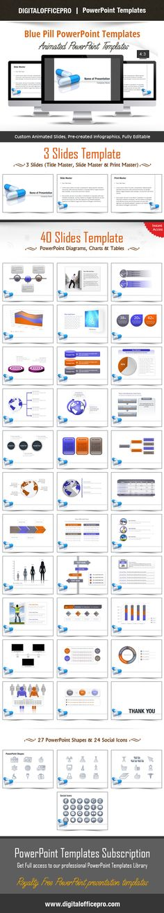 Impress and Engage your audience with Blue Pill PowerPoint Template and Blue Pill PowerPoint Backgrounds from DigitalOfficePro. Each template comes with a set of PowerPoint Diagrams, Charts & Shapes and are available for instant download.