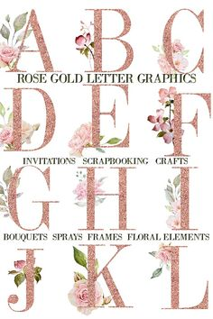 Create gorgeous invitations, cards products, planners and craft projects with pretty pink watercolor rose graphics with coordinating alphabet and frames. Make Your Own Invitations, Make Your Own Card, Grateful Prayer, Thankful Heart, Floral Letters, Gold Letters, Watercolor Rose, Free Graphics, Floral Border