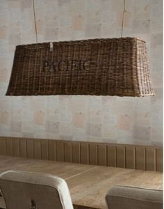 Riviera Maison Rustic rattan hanging lamp 'Pacific' 159,-