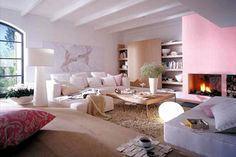 Fun living room with nice colours