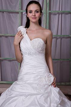 Robe de mariée avec sans manches de traîne mi-longue avec cristal d'epaule…