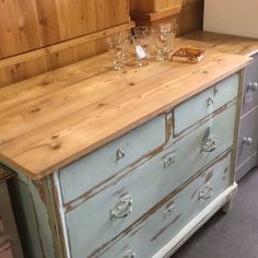 Vintage Shabby Chic Pine dresser at Grandads Curious Attic At Dorchester Curiosity Centre