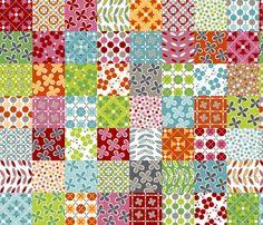 Cheater Friday REVISED REDS fabric by melaniesullivan on Spoonflower - custom fabric