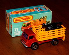 Vintage Matchbox Cattle Truck Die-Cast Model NOS, Made In England, Copyright 1978 By Lesney Products