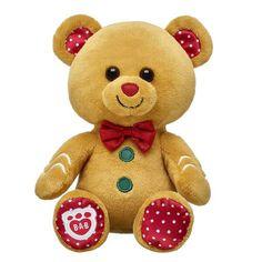 Build-A-Bear Buddies™ Gingerbread Teddy Bear | Build-A-Bear Crochet Teddy, Crochet Bear, Giant Stuffed Animals, Stuffed Toys, Bear Wallpaper, Cute Teddy Bears, Bear Doll, Build A Bear, Animal Quotes