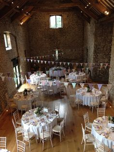 Bunting Reception Styling At Priston Mill