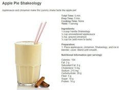 Apple pie Shakeology for a #ShakeologySaturday