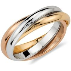.: ekszervilag.hu :. Womens Wedding Bands, Wedding Rings For Women, Wedding Ring Bands, Cartier Wedding Rings, Bague Trinity Cartier, Roll Ring, Multi Coloured Rings, Colored Gold, Trinity Ring