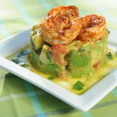 Grilled Shrimp Avocado Square by Fab Frugal Food