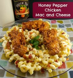 Satisfy your Applebees craving with this Honey Pepper Chicken Mac and Cheese a copy cat to their ever popular dish!