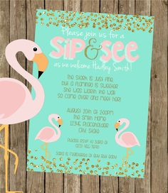 Adoption baby shower invite stephanie miera potential wording adoption baby shower flamingo baby shower invite printable file by creativekittle on etsy filmwisefo Gallery
