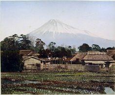Mt. Fuji from a farmhouse in Yoshiwara, on the Tokaido