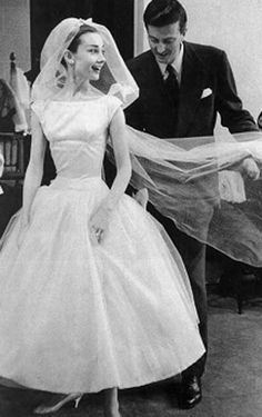 Audrey Hepburn wedding