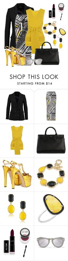 """Untitled #761"" by the-luxurious-glam ❤ liked on Polyvore featuring Dorothy Perkins, Whistles, Yves Saint Laurent, Gucci, 1st & Gorgeous by Carolee, Christina Debs and Karen Walker"