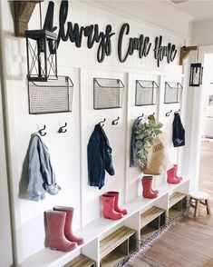 Farmhouse Mudroom, Shiplap, Modern Farmhouse, Industrial, Rustic, White Decor, Corbels, black hardware