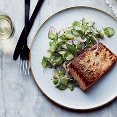 Seared Salmon with Anise-Cucumber Salad | Food & Wine