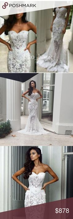 🌹JUST IN❗️SENORITA EUROPEAN DESIGNER WEDDING GOWN 💃🏿 💯Handmade and new arrival from my new European Collection Dramatic, sexy  gown with appliqués through out . Your choice of pearls or Swarovski crystals , which I do the the hand beading myself. With three layers of tulle and I also added 1.5 feet to the the train for a more dramatic effect. This dress is available in all sizes. 2-24W. Please check the size chart for correct measurements. 🆕💃🏿⁉️ LEA JAMES BRIDAL Dresses Wedding