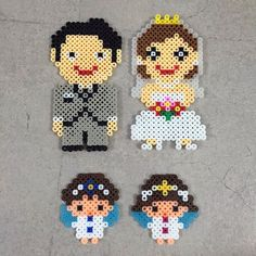 Couple wedding perler beads by shyj0426