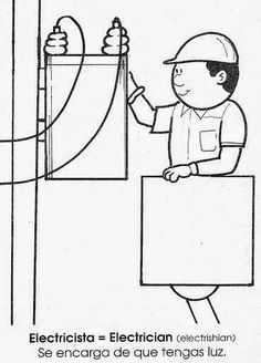 Maestra de Primaria: La profesiones en inglés y en español. Dibujos para colorear. Library Icon, Felt Crafts, Kids And Parenting, Social Studies, Kids Learning, Coloring Pages, Kindergarten, Crafts For Kids, Community