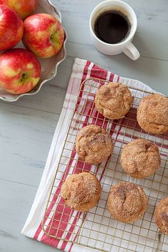 Cinnamon Sugar Apple Doughnut Muffins (from http://www.annies-eats.com/2014/09/22/cinnamon-sugar-apple-doughnut-muffins/)